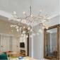 北欧后现代简约创意客厅灯具卧室餐厅萤火虫树枝叶子樱花吊灯