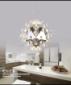 北欧创意个性客厅吊灯书房卧室吊灯现代简约餐厅不锈钢蒲公英吊灯