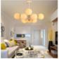 北欧简约现代创意个性吊灯客厅灯具卧室灯餐厅圆形玻璃球铁艺灯饰