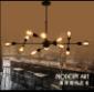 北欧美式复古工业风客厅餐厅咖啡厅酒吧吧台创意分子个性铁艺吊灯