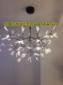 北欧创意个性艺术叶子萤火虫吊灯