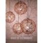 钻石球吊灯艺术蚀刻网球仿金属多边形不锈钢灯创意圆球圆形吊灯